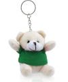Teddybeer sleutelhanger groen