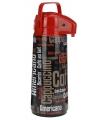 Thermoskan met dispenser zwart/rood