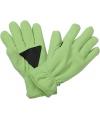 Thinsulate fleece handschoenen lime