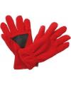 Thinsulate fleece handschoenen rood