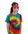 Tie-dye t-shirt rainbow voor kinderen