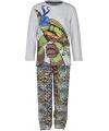 Turtles pyjama grijs