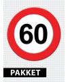 Verkeersbord 60 jaar feestartikelen pakket