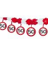 Verkeersbord slinger 50 jaar 4 mtr