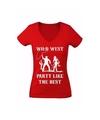 Toppers Verkleed cowgirl shirt Wild West voor dames