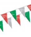 Vlaggenlijn groen/rood/wit 4 meter