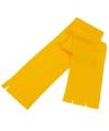 Voordelige kinder fleece sjaal geel