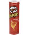 Voorraadblik Pringles tube opdruk rood