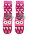 Warmte sokken roze uil voor kinderen