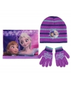Winter set kids Frozen paars
