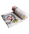 Wit fleece plaid Snoopy 120 x 120 cm