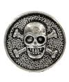 Zilveren doodshoofd chunk 1,8 cm