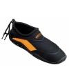 Zwart oranje neopreen surf en waterschoen voor dames