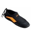 Zwart oranje neopreen surf en waterschoen voor heren