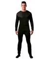 Zwarte bodysuit voor mannen