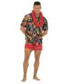 Zwarte Hawaii blouse