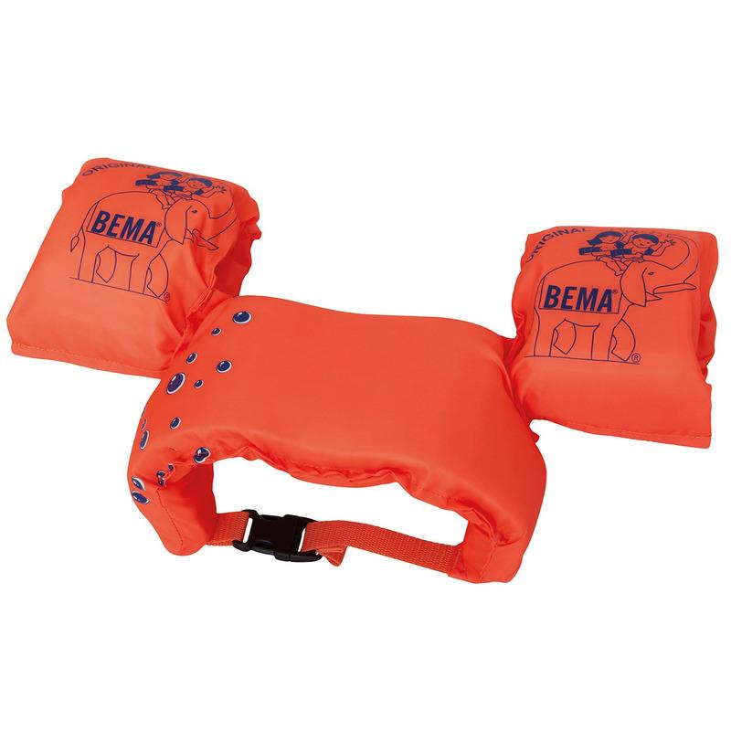 2 in 1 Zwembandjes / zwemmouwtjes oranje 15-30 kilo -