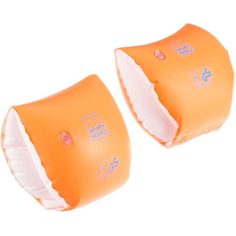2x Oranje zwembandjes/zwemmouwtjes voor babies 11-15 kilogram -
