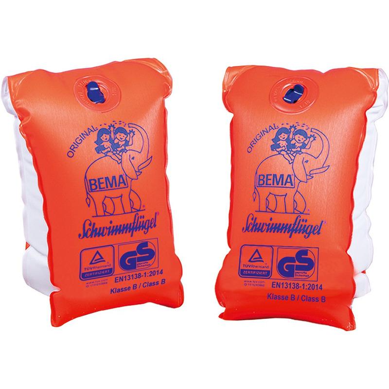 2x Oranje zwembandjes/zwemmouwtjes voor kinderen tot 30-60 kilogram -