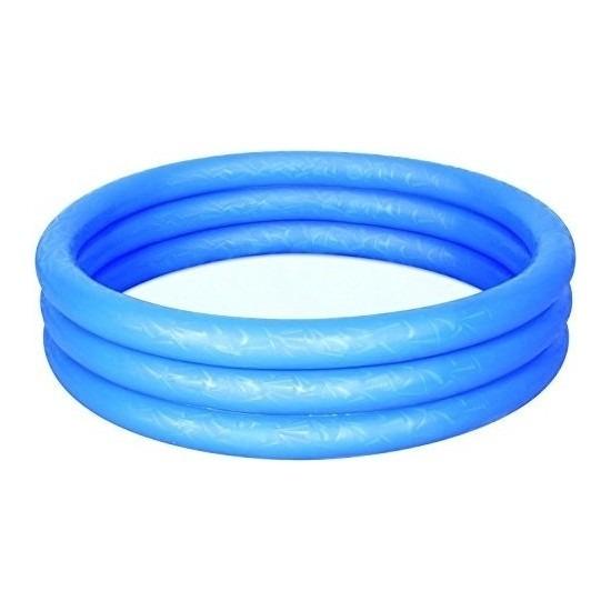 Blauw opblaas zwembad voor in de tuin -