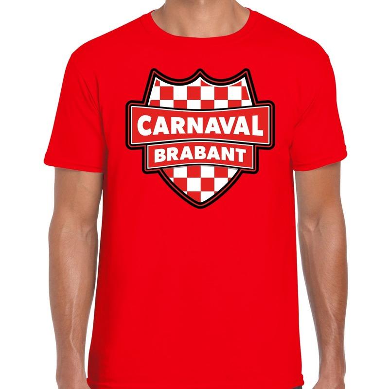 Brabant verkleedshirt voor carnaval rood heren