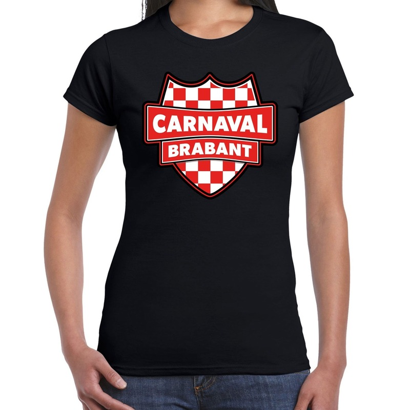 Brabant verkleedshirt voor carnaval zwart dames