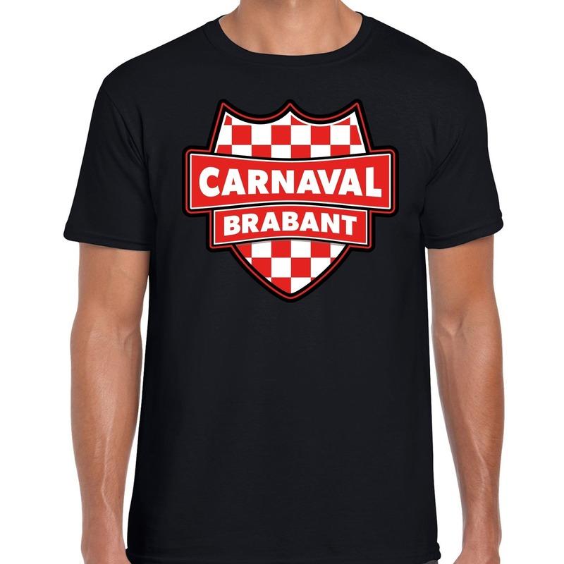 Brabant verkleedshirt voor carnaval zwart heren
