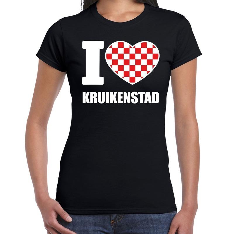 Carnaval I love Kruikenstad - Tilburg t-shirt zwart voor dames