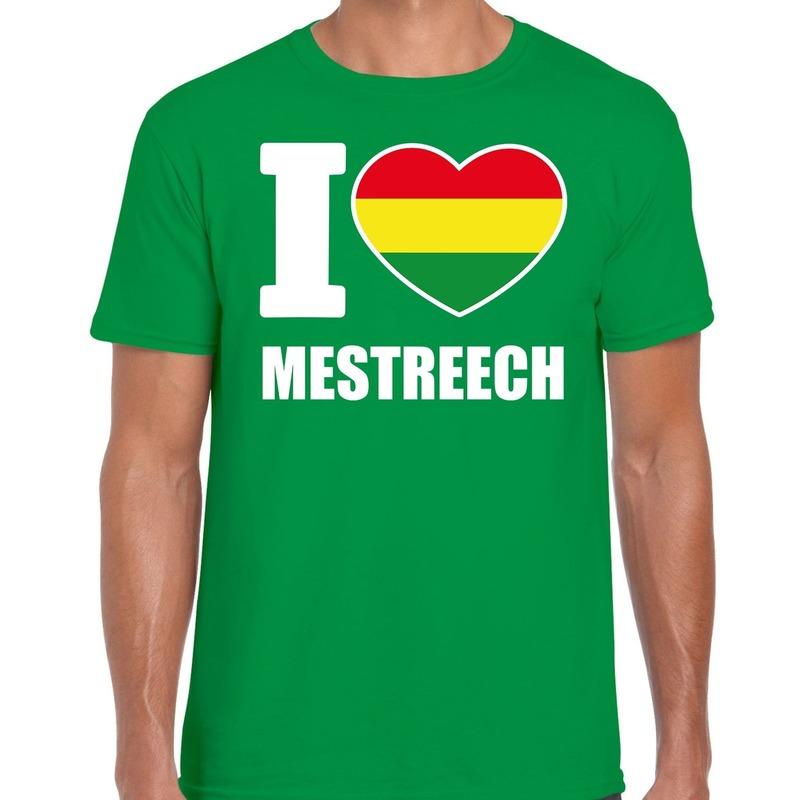Carnaval I love Mestreech - Maastricht t-shirt groen voor heren