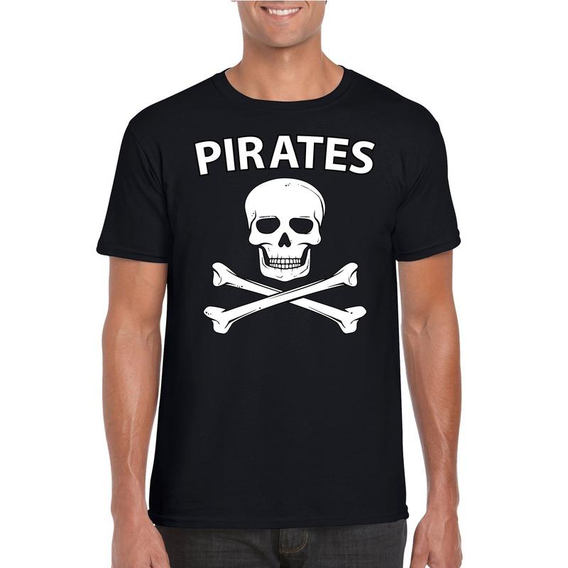 Carnaval piraten t-shirt zwart heren