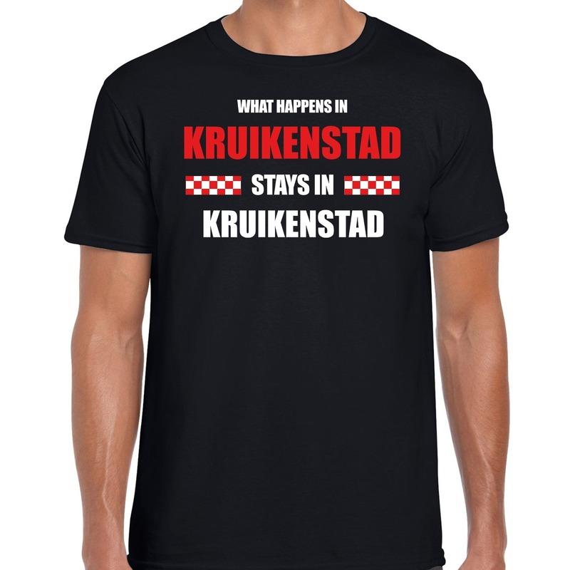 Carnaval verkleed shirt Kruikenstad - Brabant - Tilburg zwart voor heren
