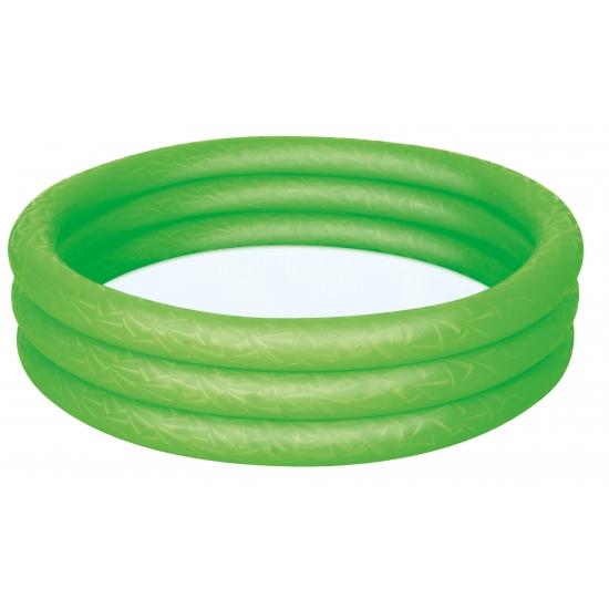 Groene opblaas zwembad voor in de tuin -