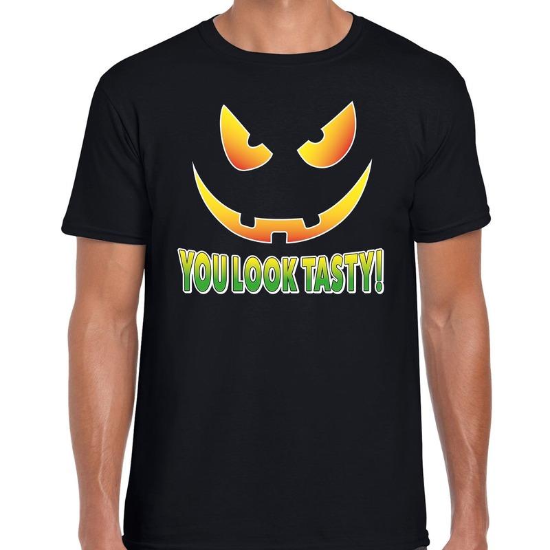 Halloween You look tasty horror shirt zwart voor heren