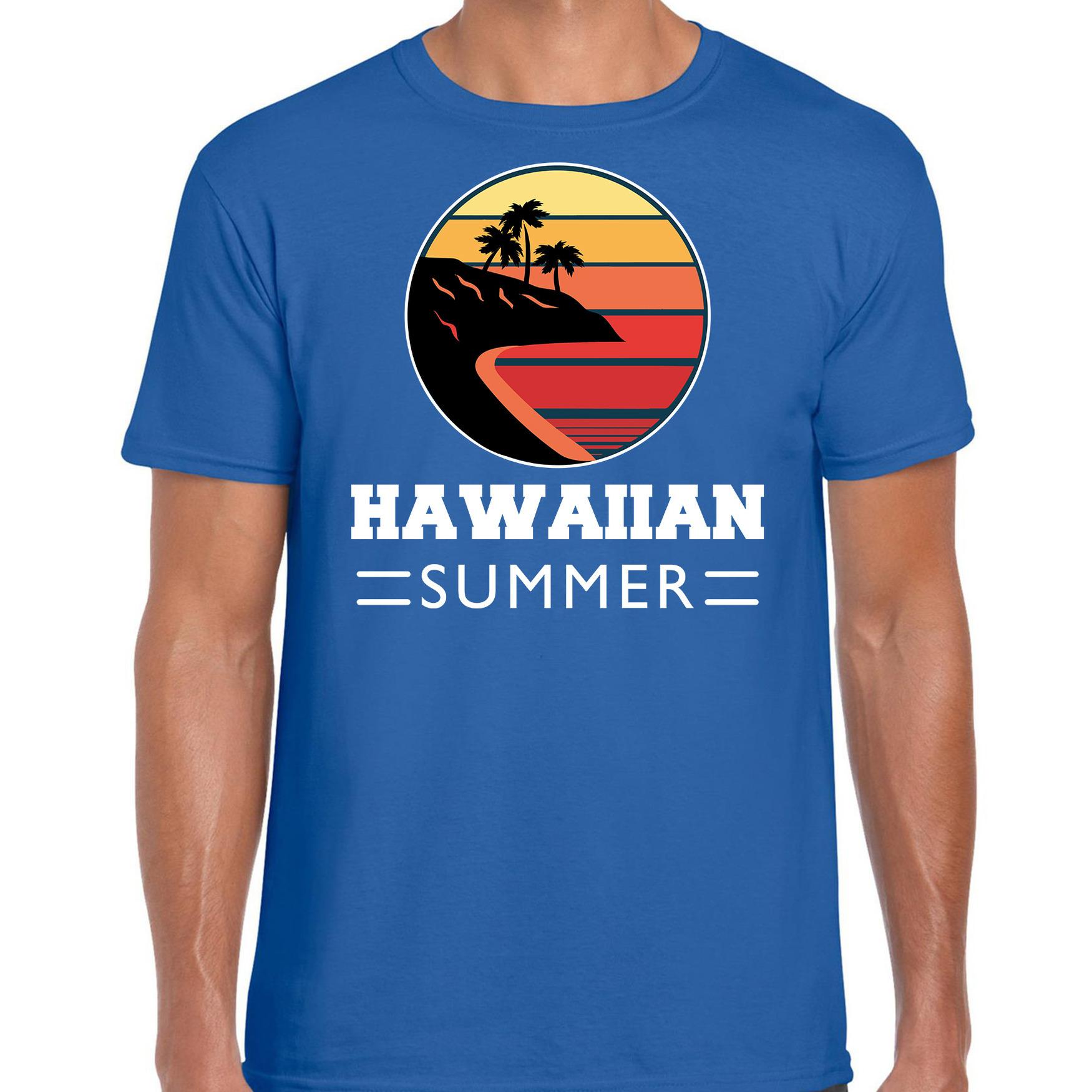 Hawaiian summer shirt beach party - strandfeest outfit - kleding blauw voor heren