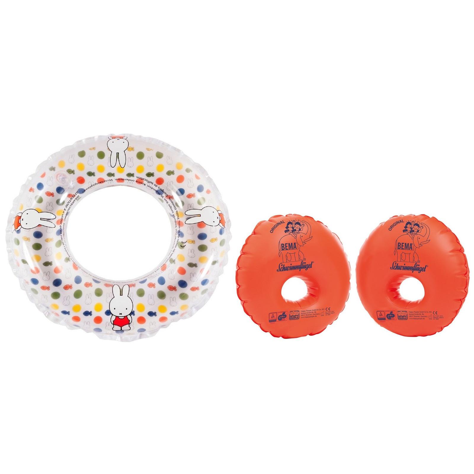 Nijntje zwemband voor kinderen 50 cm met oranje zwemvleugels -