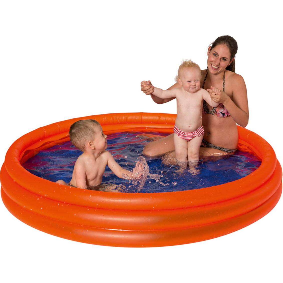 Opblaasbadje rond oranje voor kinderen 175 x 31 cm -