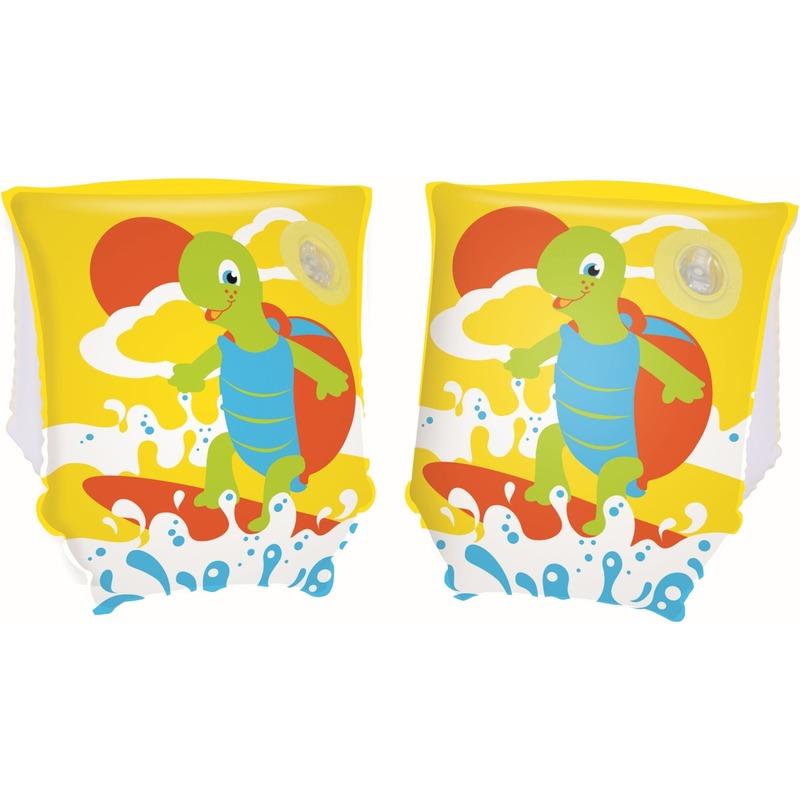 Opblaasbare gele zwemvleugels met schildpad voor kinderen -