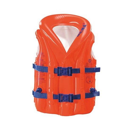 Oranje zwemtrainer zwemvest voor kinderen 15-30 kilogram