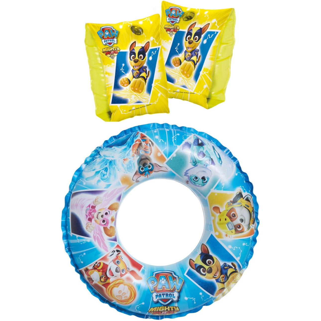 Paw Patrol zwembad speelgoed set zwemband en gele zwemmouwtjes 3-6 jaar -