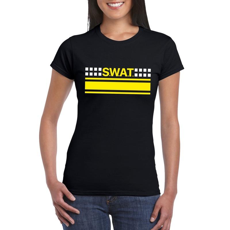 Politie SWAT arrestatieteam shirt zwart voor dames
