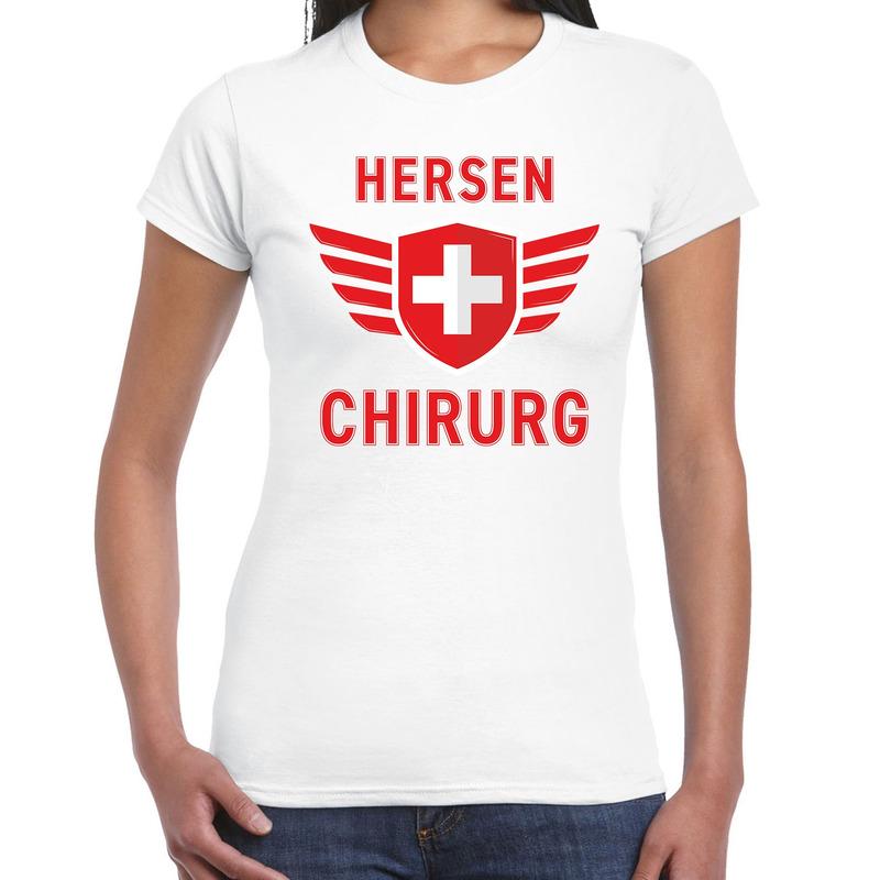 Specialist hersen chirurg verkleed shirt carnaval wit voor dames