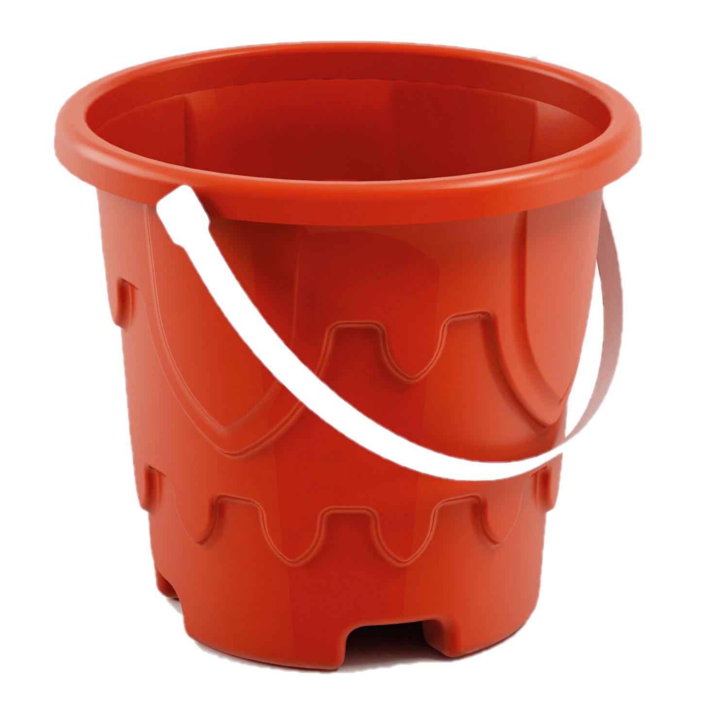 Zandkasteel emmer/strandemmertje rood 18 x 16 cm speelgoed